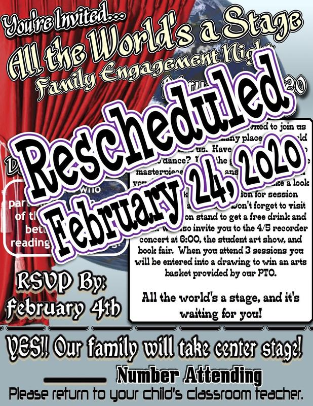 Rescheduled Family Night Poster