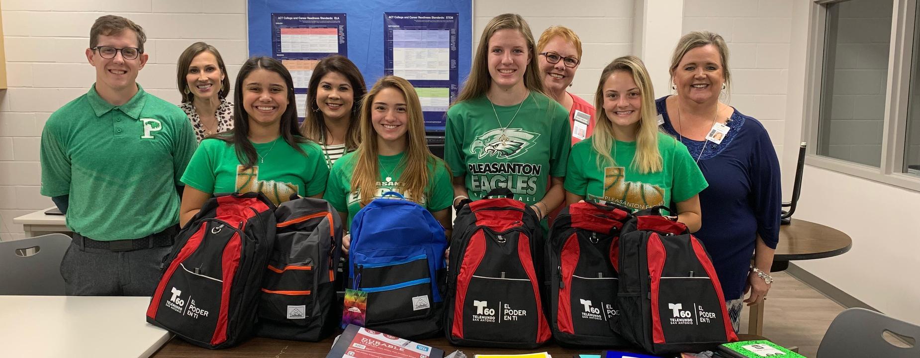 High School Basketball backpack giveaway
