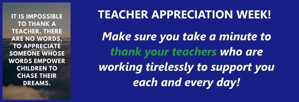 Teacher Appreciation Week Highland High School 2020