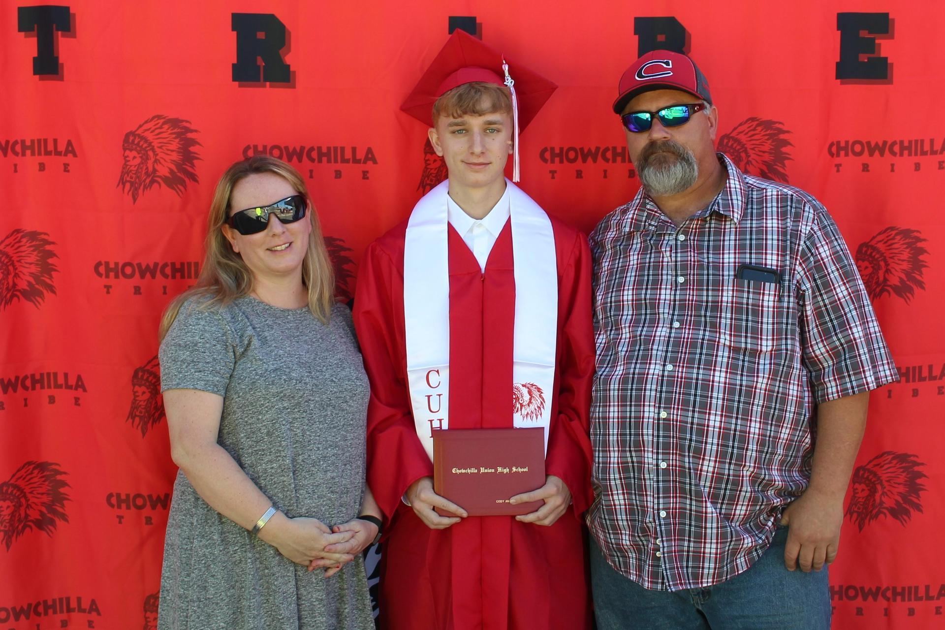 Cody Harrell and family
