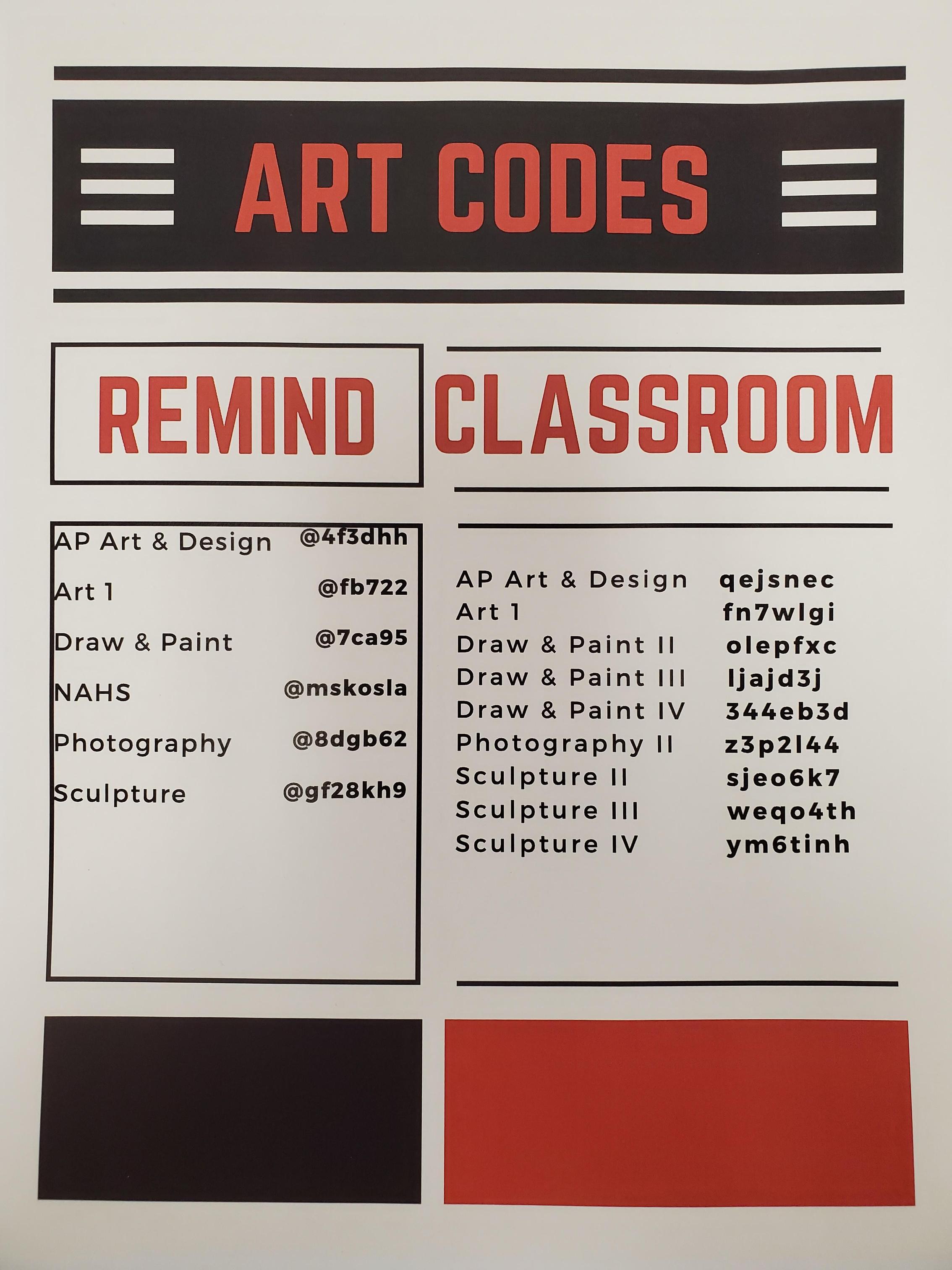 Art Codes 2020