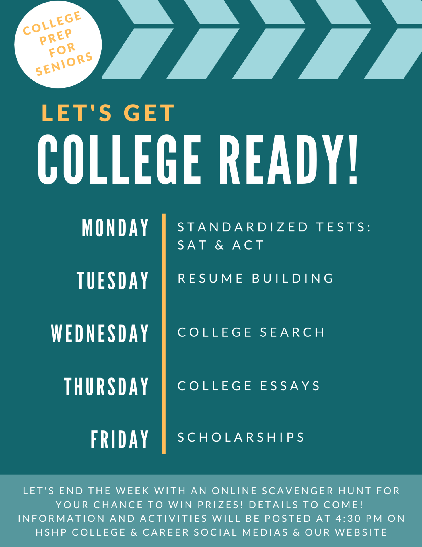 Class of 2021 College Ready Flyer