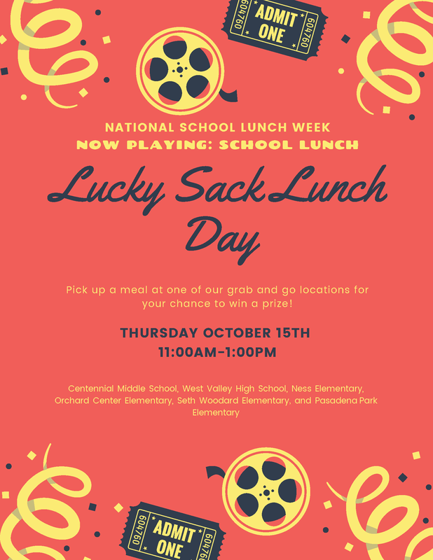 Lucky Sack Lunch Day flyer