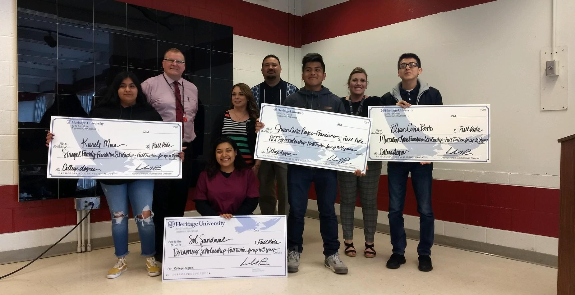 High School Students receive full-ride scholarships to Heritage University