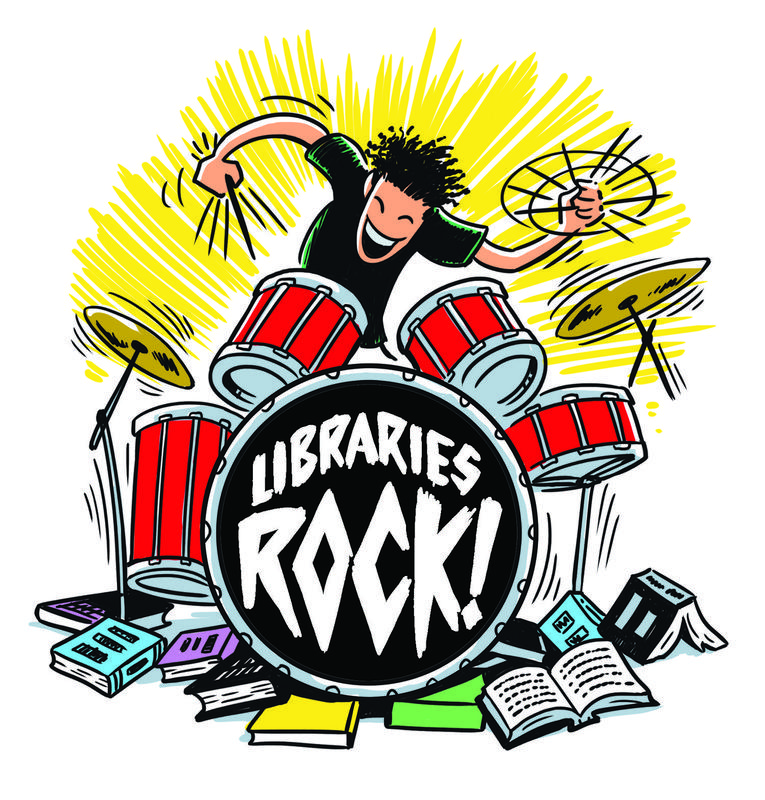 Clip art of kid playing drums