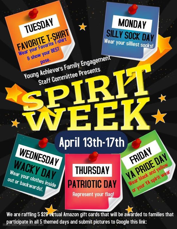 YA Virtual Spirit Week Day Description