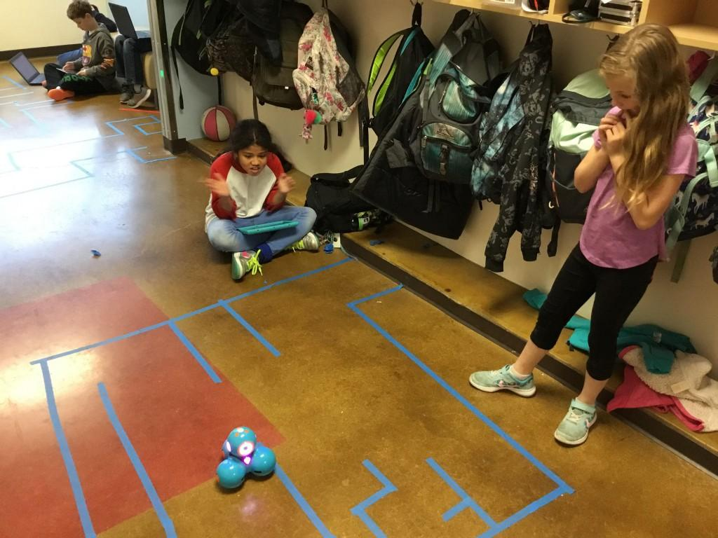 Fun with Dash and Dots robots.