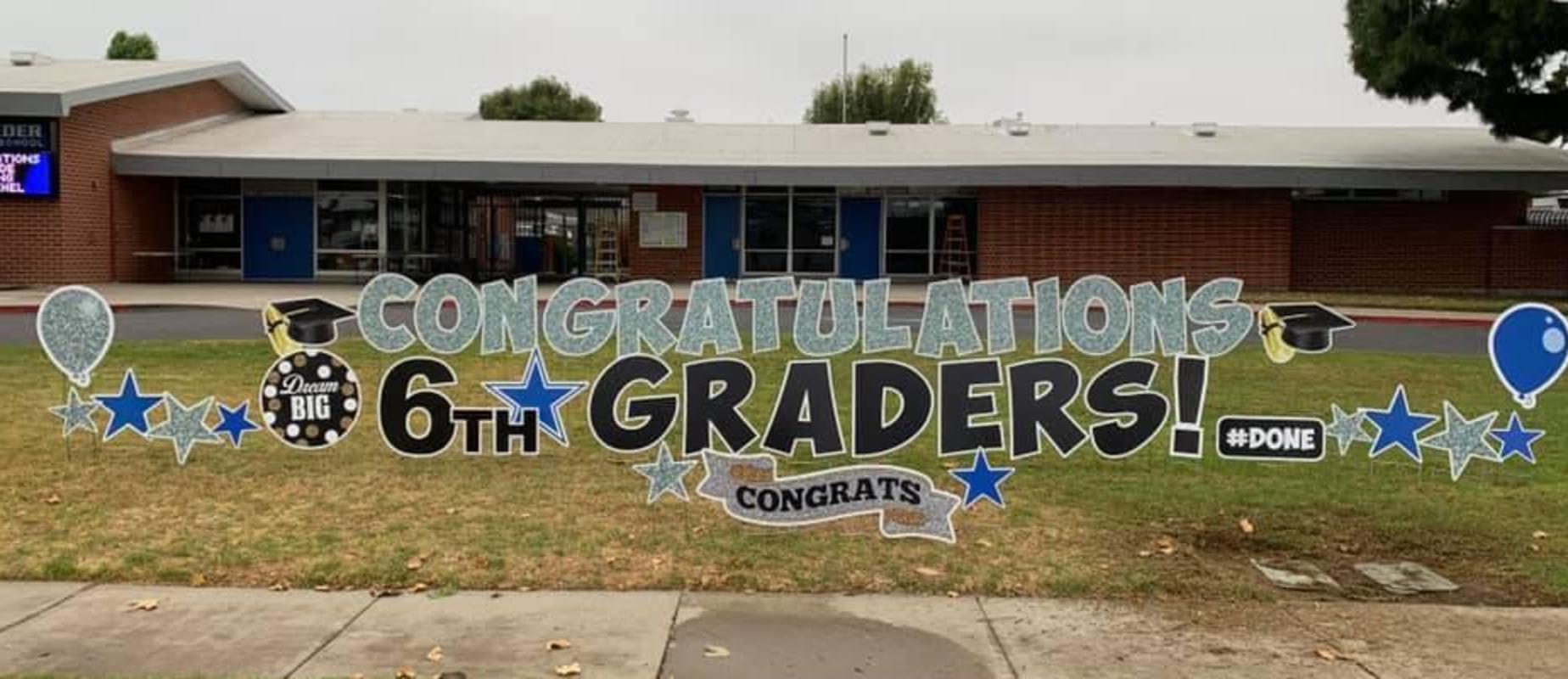 congrats 6th graders sign
