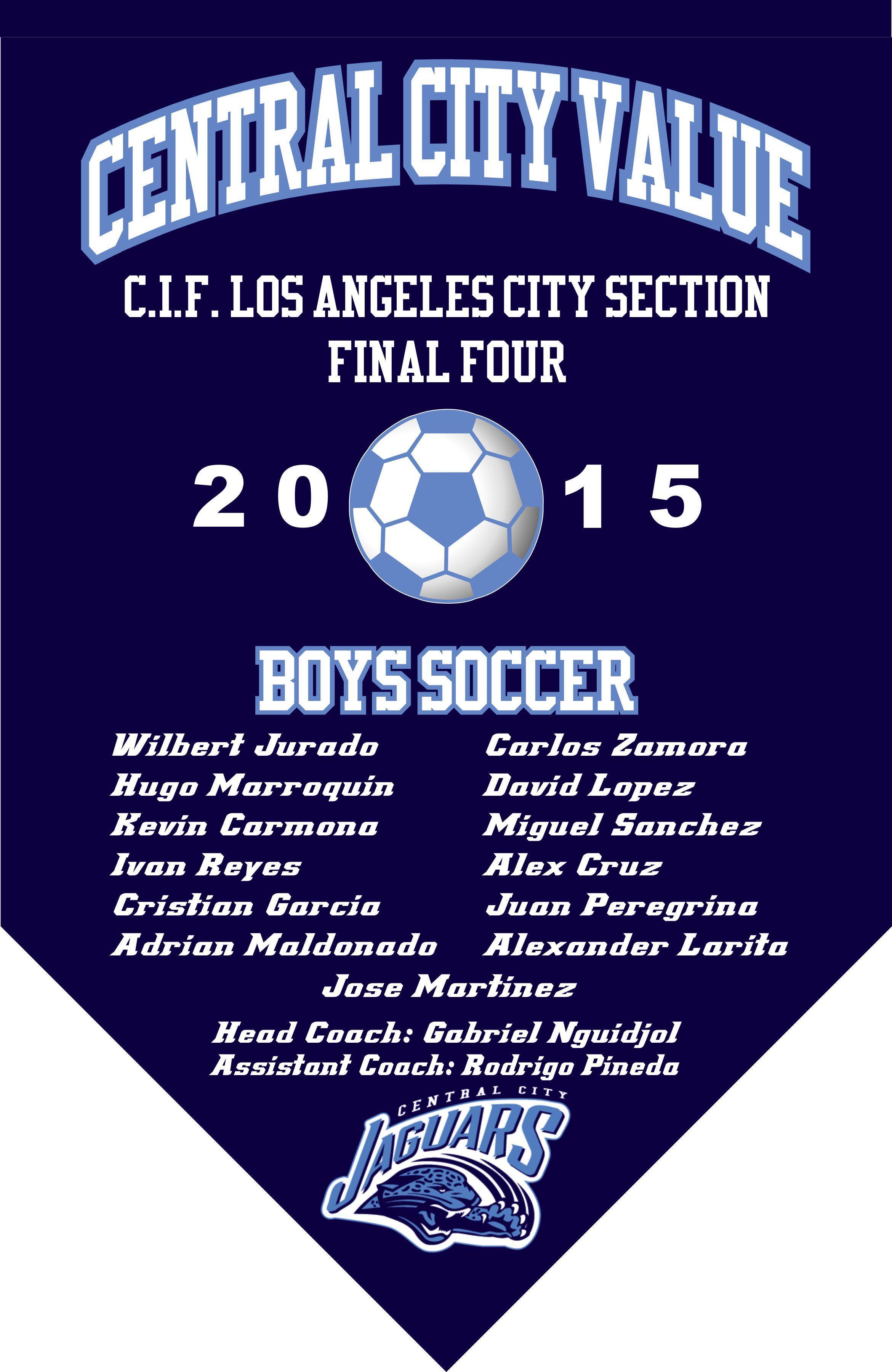 2015 Boys Soccer Final Four Banner