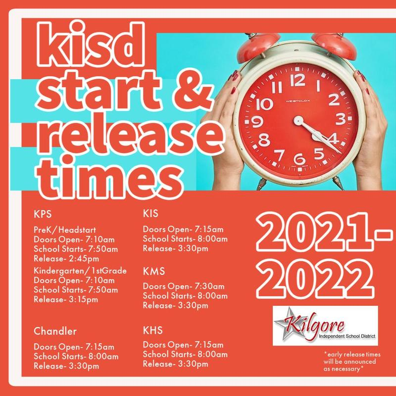 KISD Start & Release Times Featured Photo
