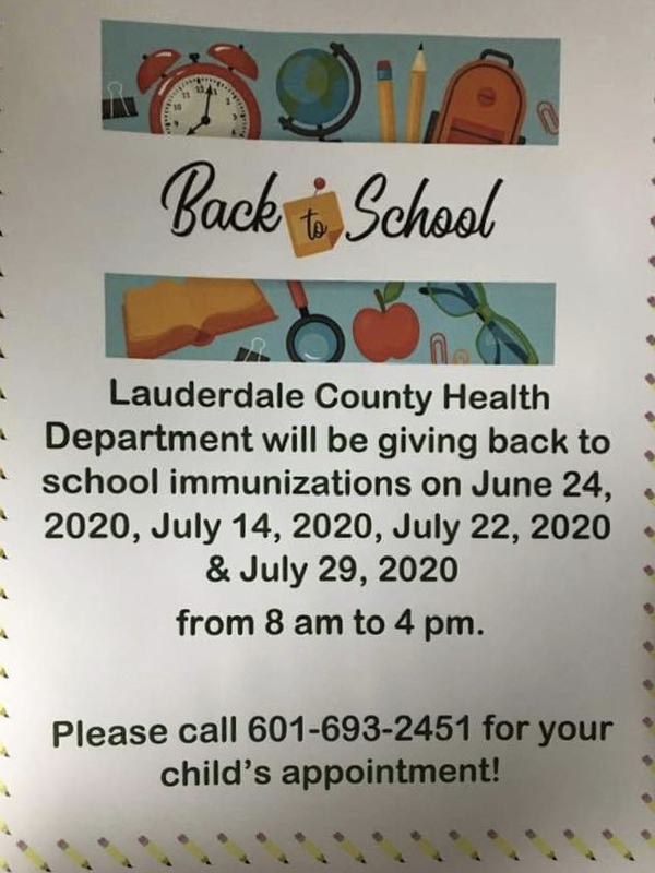 Back to School Immunizations Flyer