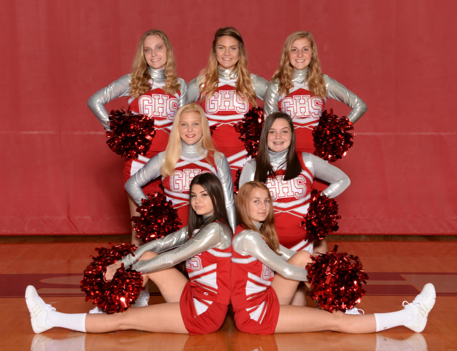 2018 JV football cheerleaders