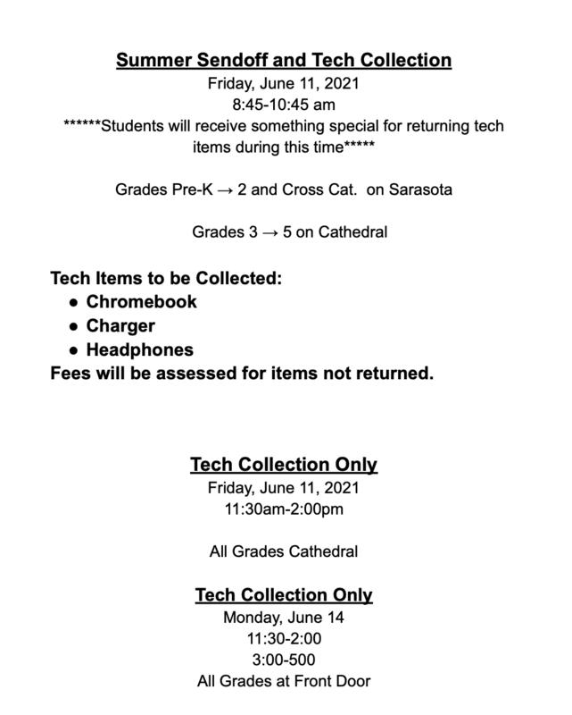 Tech return schedule