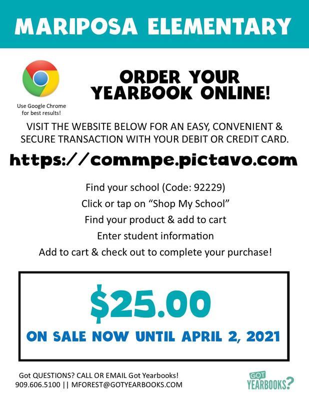 Mariposa Yearbook Order Online