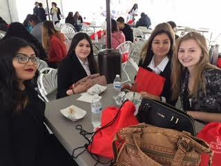 Students having breakfast