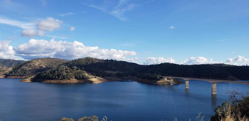 New Melones lake and bridge-Hwy 49