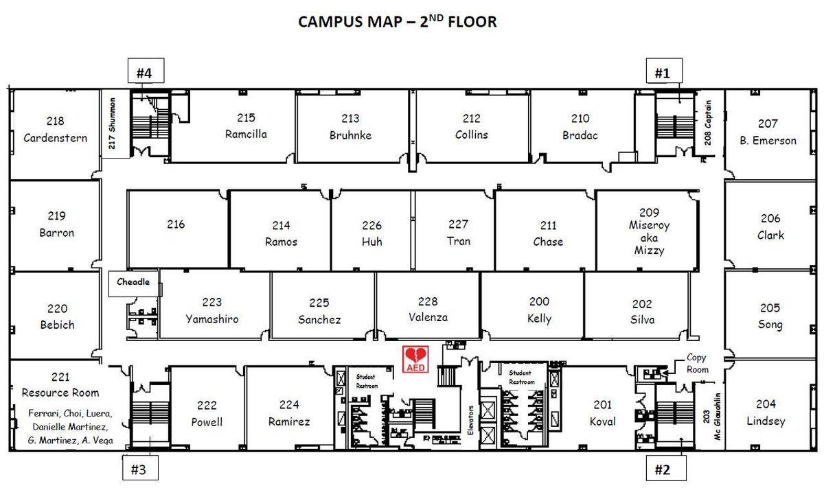 Campus Map floor 2