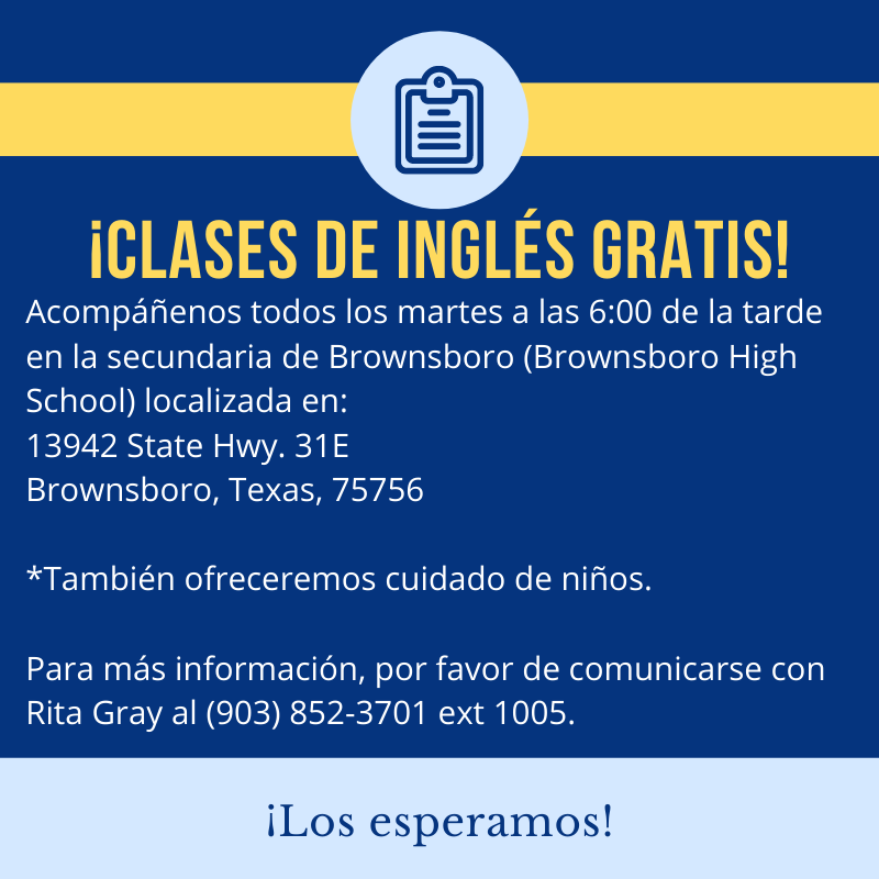 Free adult ESL classes every Tuesday at Brownsboro High School Featured Photo