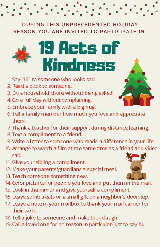 Acts of Kindness & Virtual Field Trips for the break Thumbnail Image