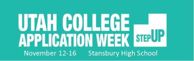 Utah College Application Week Ucaw Counseling