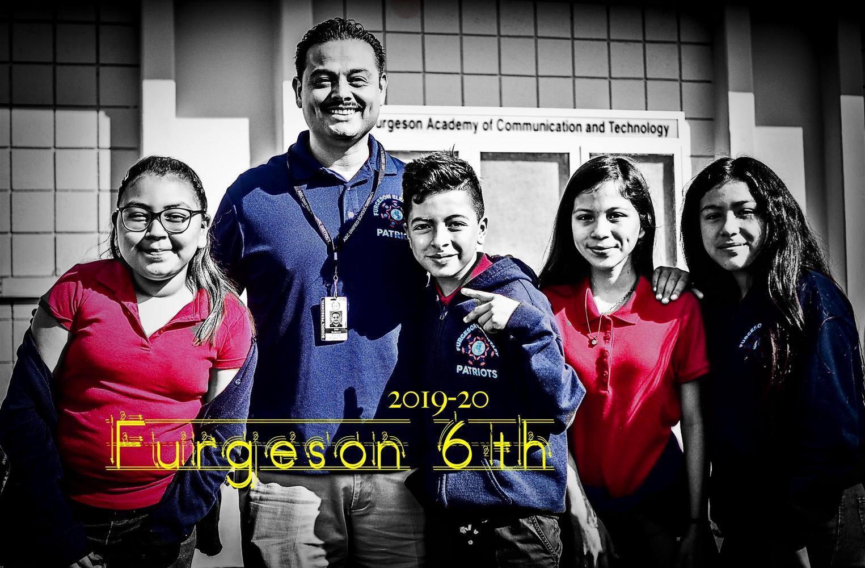 Furgeson Principal with 6th graders