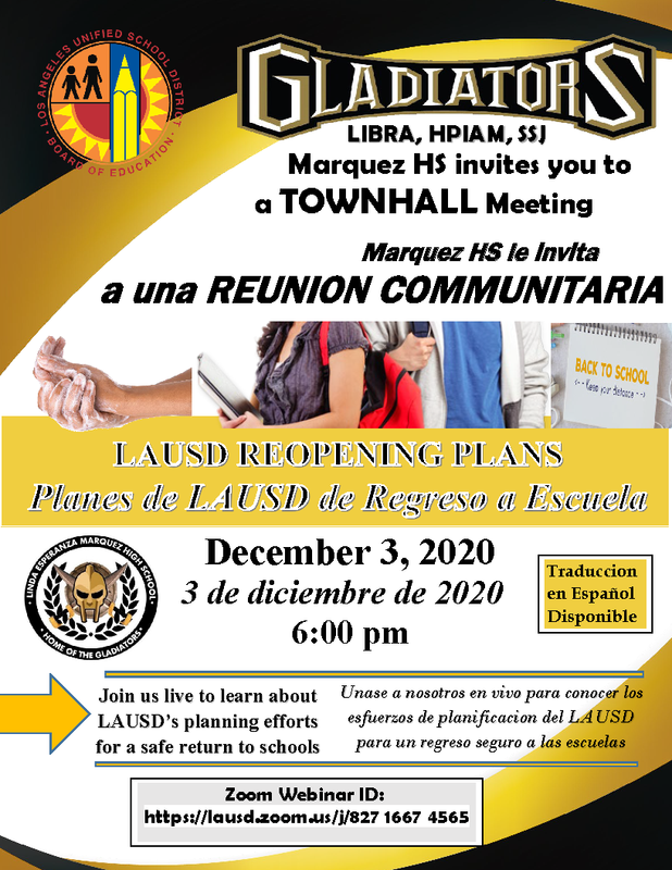 Marquez High School Town Hall Meeting / Reunion Communitaria Thumbnail Image