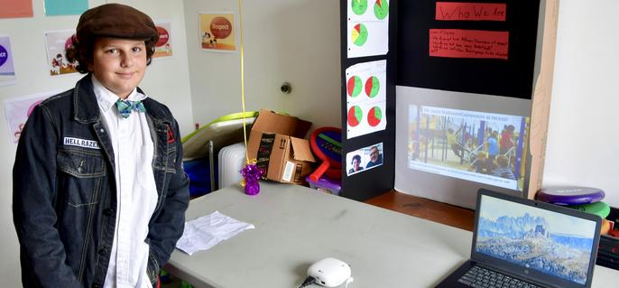 Presenter at 5th Grade IB Exhibition