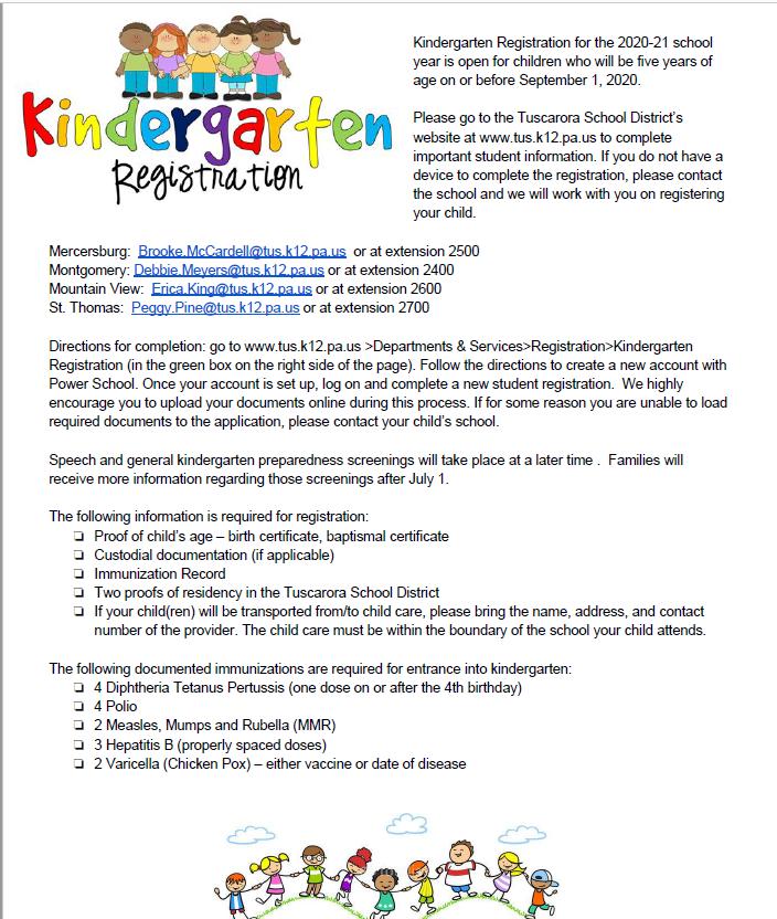 K registration info