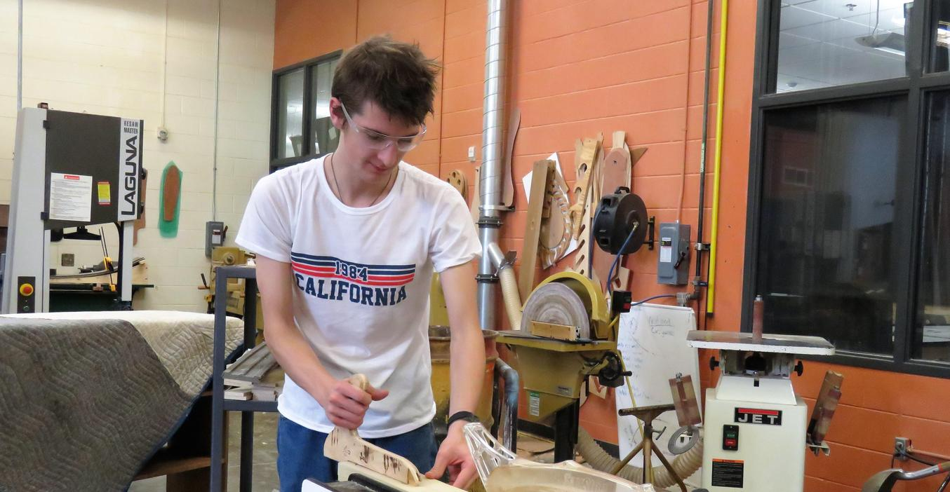 TKHS woods students create all kinds of woodworking projects in their classes.