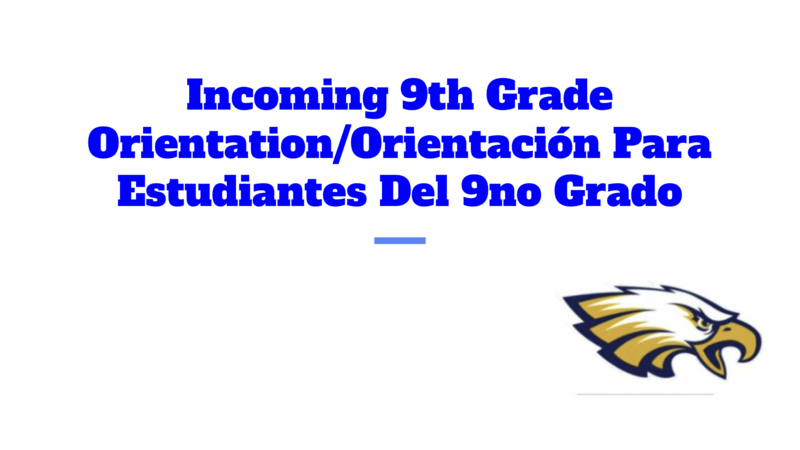 Incoming 9th Grade Orientation - 2020 Thumbnail Image