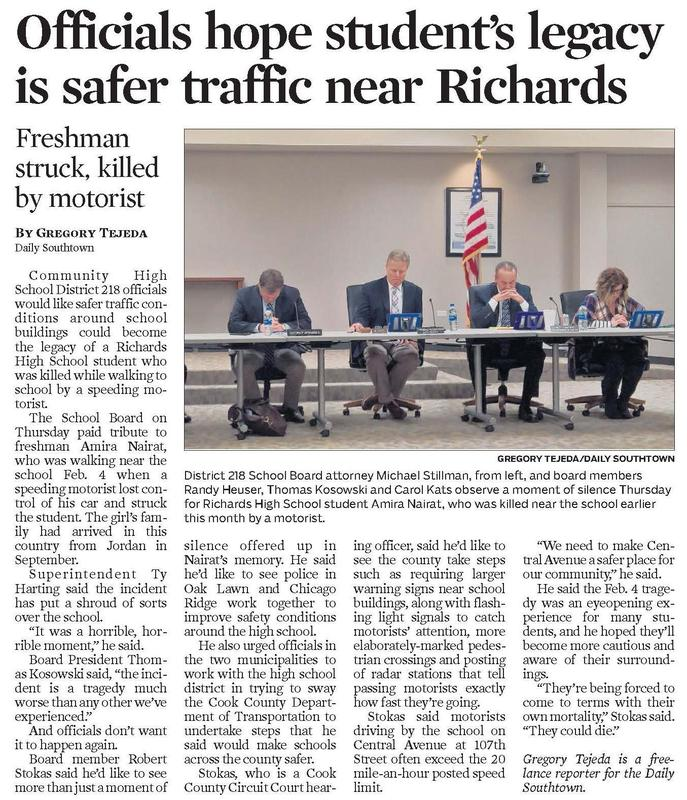 Board working on traffic safety near Richards Thumbnail Image