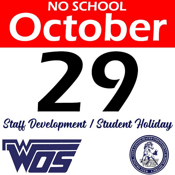 No School October 29