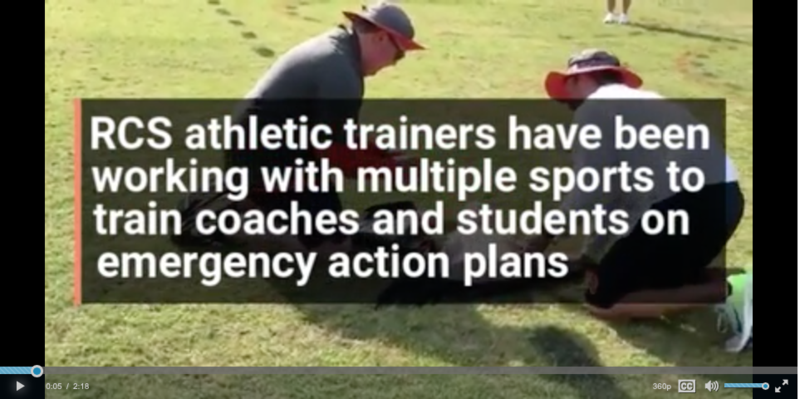 Athletic Trainers emergency response drills