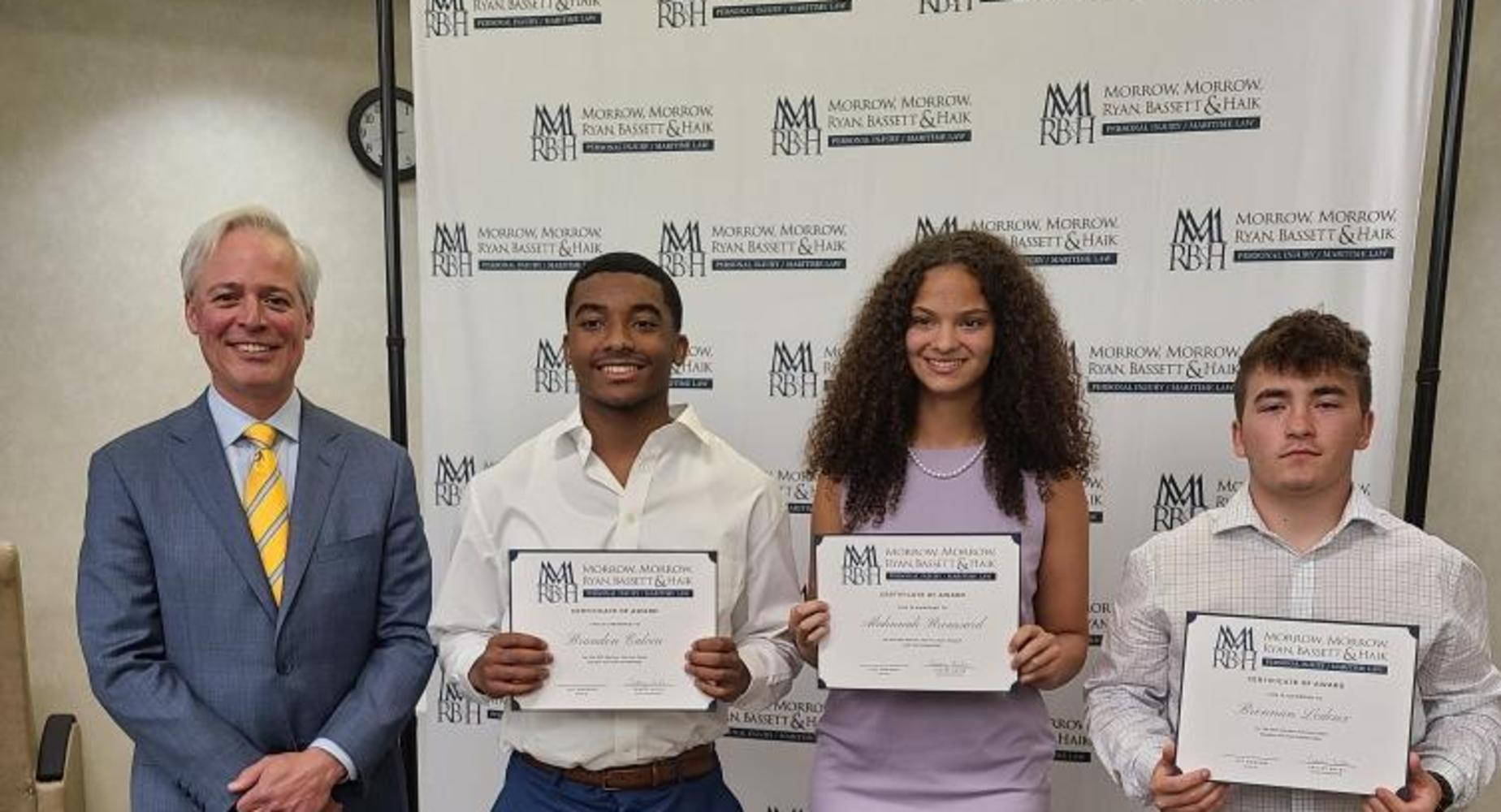 Morrow & Morrow scholarship recipients
