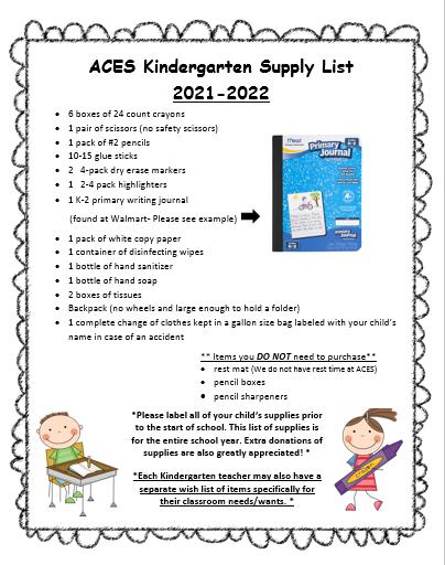 K Supply list