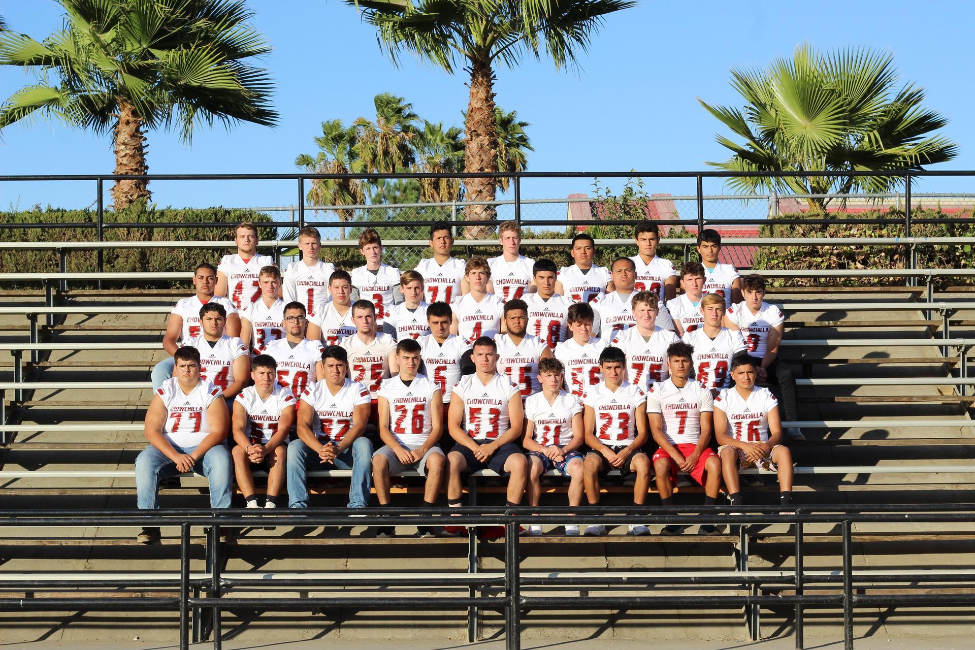 Varsity Football team posing