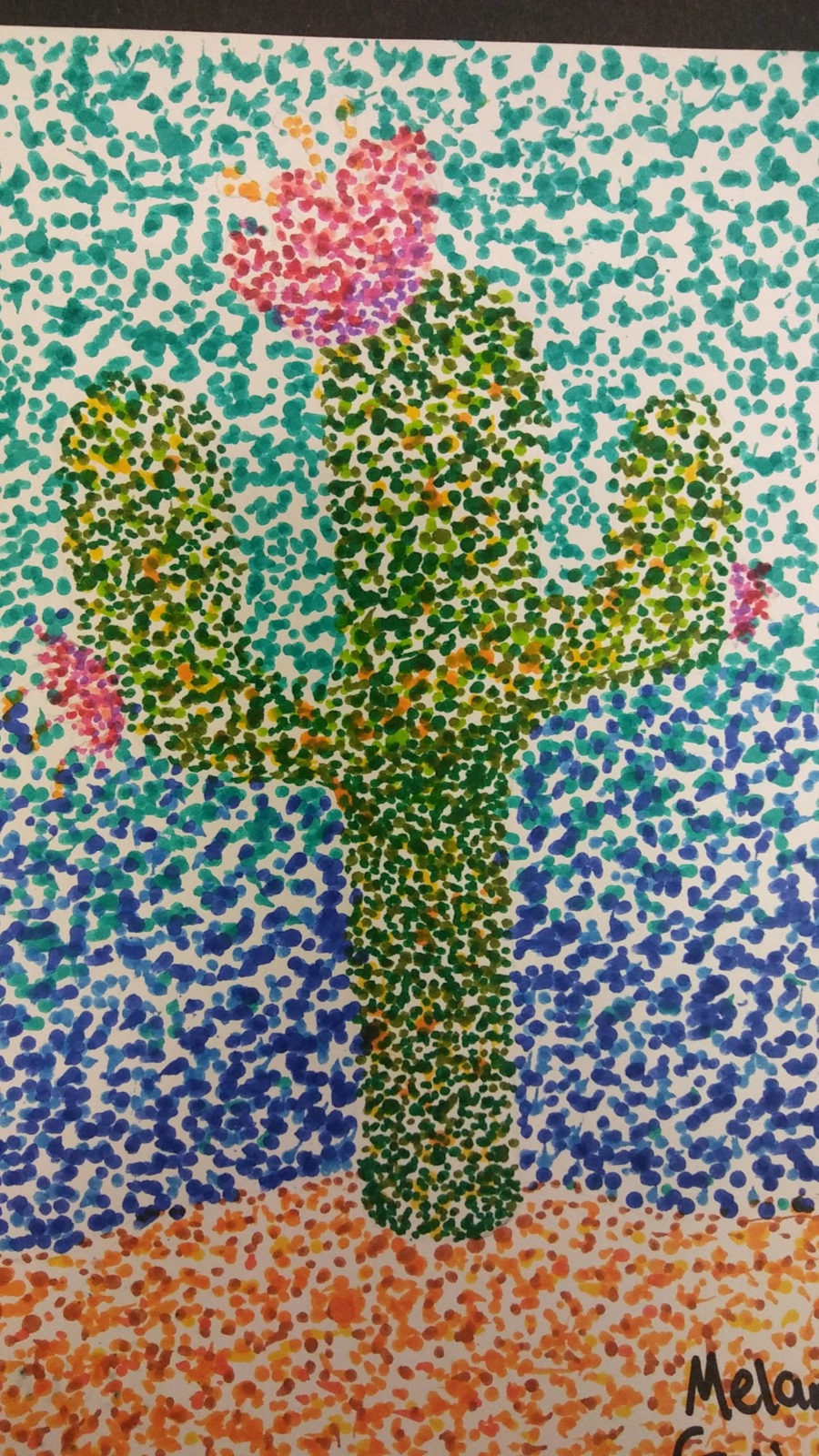 Landmark Student Painting of Cactus