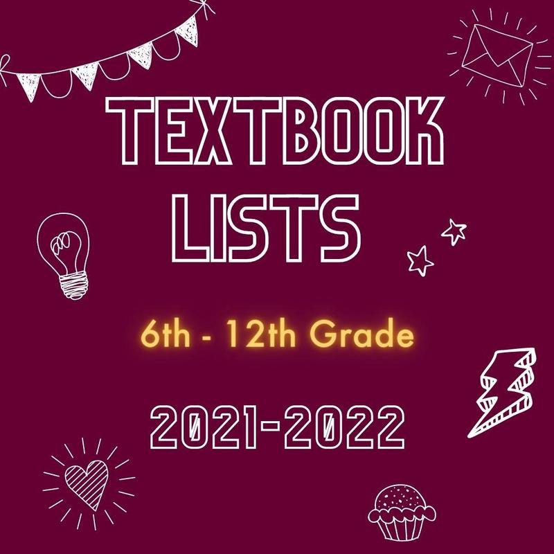 2021-2022 Textbook Lists Featured Photo