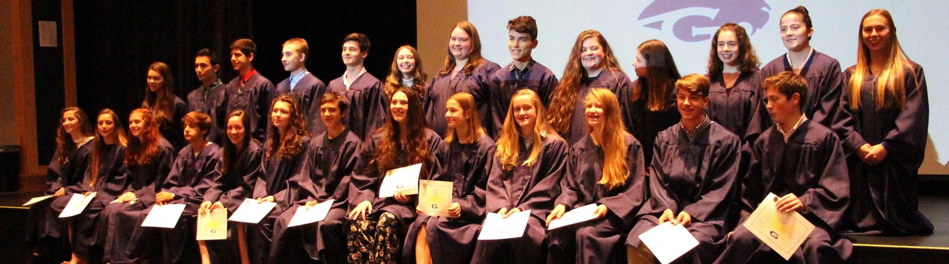 Gananda's newest Math National Honor Society Inductees November 2018