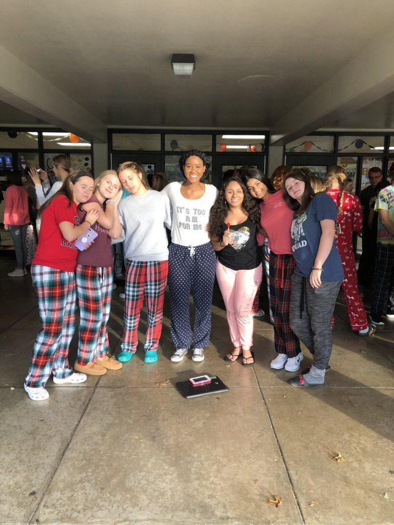 Homecoming pajama day!