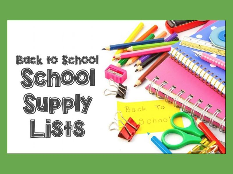 School Supply Lists K-8 Featured Photo