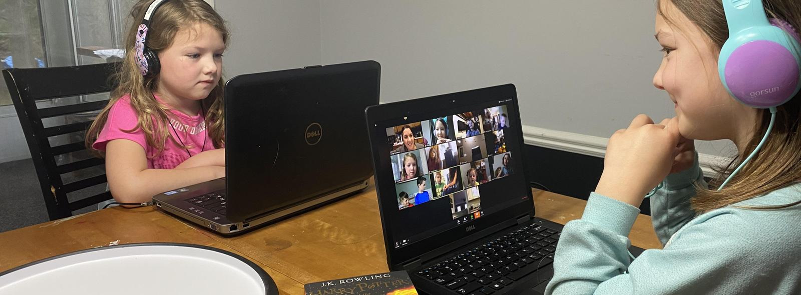 alamo students learning at home on their computers