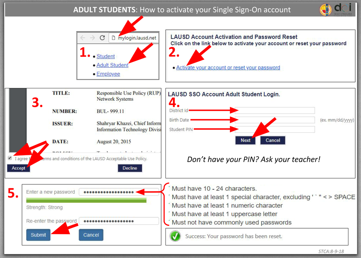 how to activate a student sso
