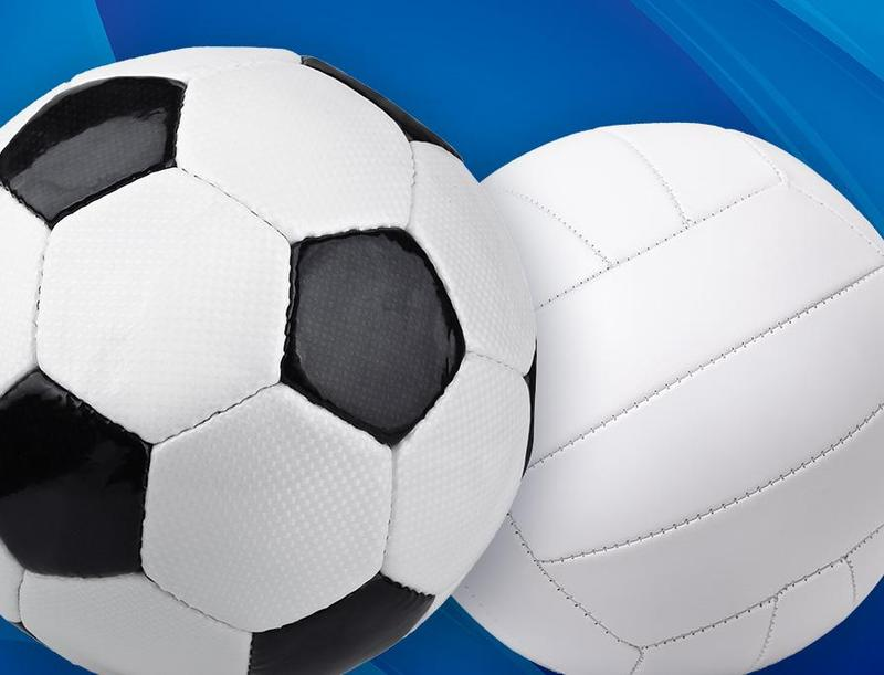 picture of volleyball and soccer ball