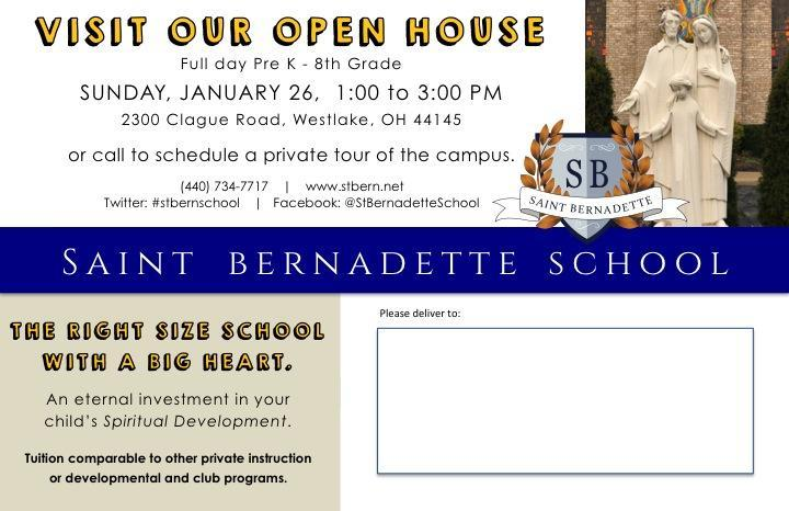 Join us for the Saint Bernadette School Experience Featured Photo