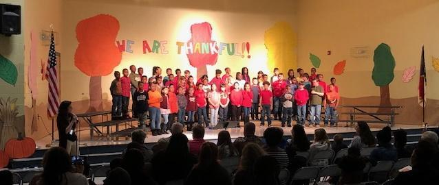 Third Grade Sings During November Musical