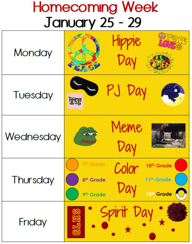 7th - 12th Grade Homecoming Week Dressup Days Thumbnail Image