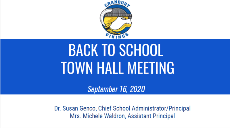 Graphic - Back to School Town Hall Meeting - September 16, 2020