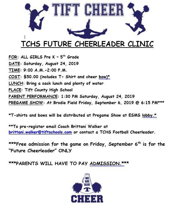 Tift Cheer - TCHS Future Cheerleader Clinic Featured Photo