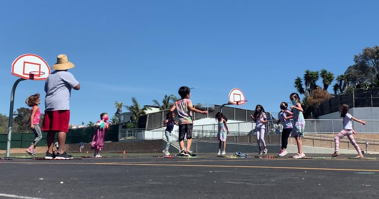 kids playing during the STAR program